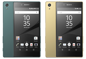sony xperia z5 in green and gold